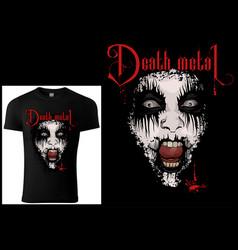 Corpse paint t-shirt death metal design vector