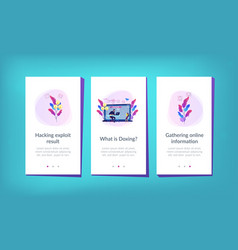Doxing app interface template vector
