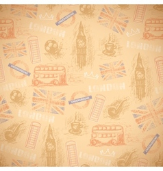 english vintage retro background seamless vector image