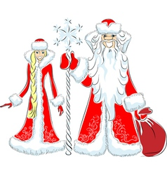 father frost and the snow maiden vector image