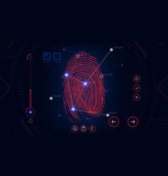 Fingerprint scanning identification system vector
