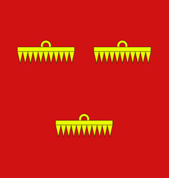 flag of rethel in ardennes of grand est region of vector image