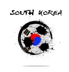 flag of south korea as an abstract soccer ball vector image