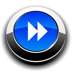 Forward 3d round button vector image