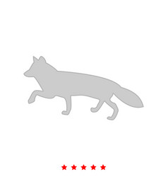 Fox of silhouettes it is icon vector