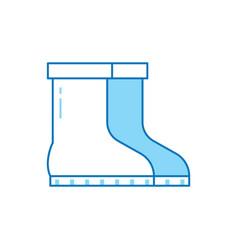 garden boots icon vector image