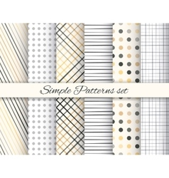 Geometric elegant beige and gray seamless pattern vector image
