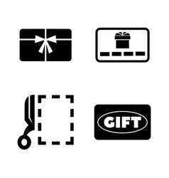 gift cards simple related icons vector image