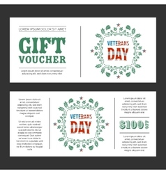 Gift voucher Veterans Day vector image