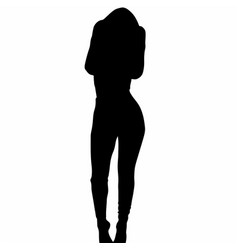 Girl silhouette image vector