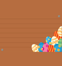 Greeting card of easter egg backgrounds vector