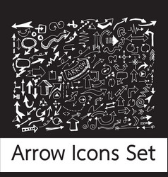 hand drawn arrow icons vector image