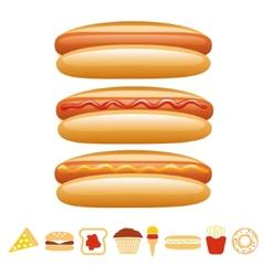 Hotdog collection vector