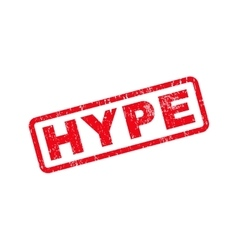 Hype Text Rubber Stamp vector
