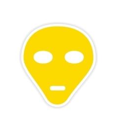 Icon sticker realistic design on paper vector