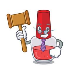 Judge nail polish mascot cartoon vector
