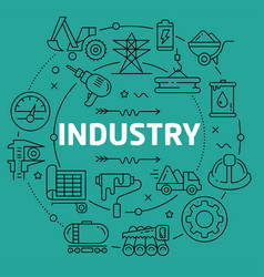 linear industry vector image