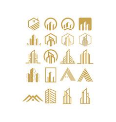 logo set real estate design vector image