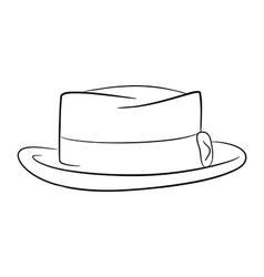 Mans hat logo contour vector