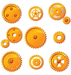 mechanism icons vector image