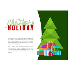 merry christmas wishes on holiday invitation vector image