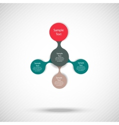 Metaball colorful round diagram infographics vector