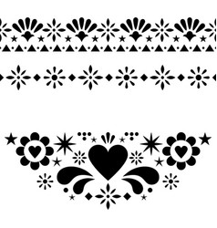 Mexican floral and abstract design elements vector