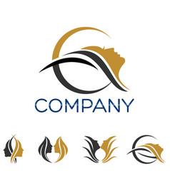 Modern beauty logo vector
