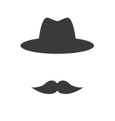 mustache with hat vector image