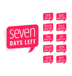 Number of days left sticker design for sale and vector