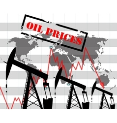 Oil price graph vector image