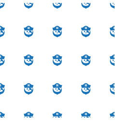 Pirate icon pattern seamless isolated on white vector