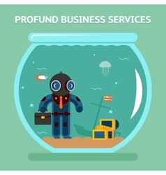 Profound business services vector image