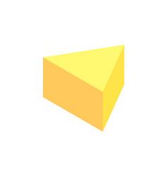 Pyramid 3dimensional figure vector