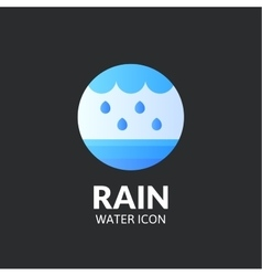 Rain logo template vector