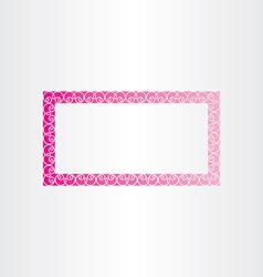 Rectangle decorative magenta frame vector