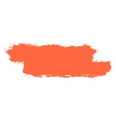 Red brushstroke paint vector