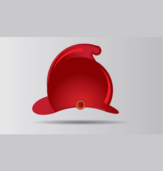 red firefighter helmet badge vector image