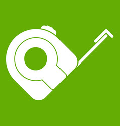 Roulette construction tool icon green vector