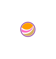 round abstract loop colored logo vector image