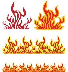 set of fire vector image