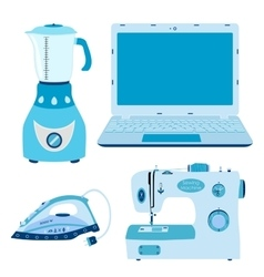 Set of home appliances image of vector image