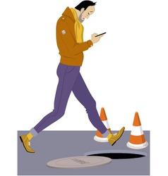 Smartphone addict vector image