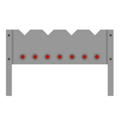 steel brazier icon isolated vector image