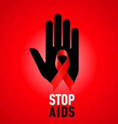 STOP AIDS Symb 04 vector image