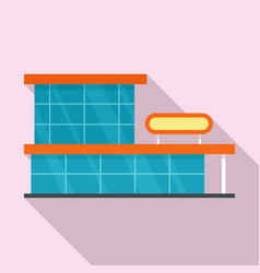 storefront mall icon flat style vector image
