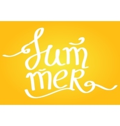 Summer Lettering on yellow background vector
