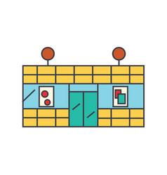 supermarket line icon concept supermarket flat vector image