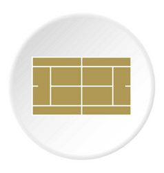 Tennis court icon circle vector