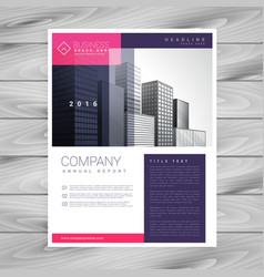 Trendy magazine layout brochure flyer design a4 vector